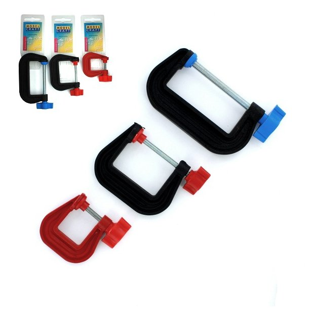 Plastic G-Clamps 75mm