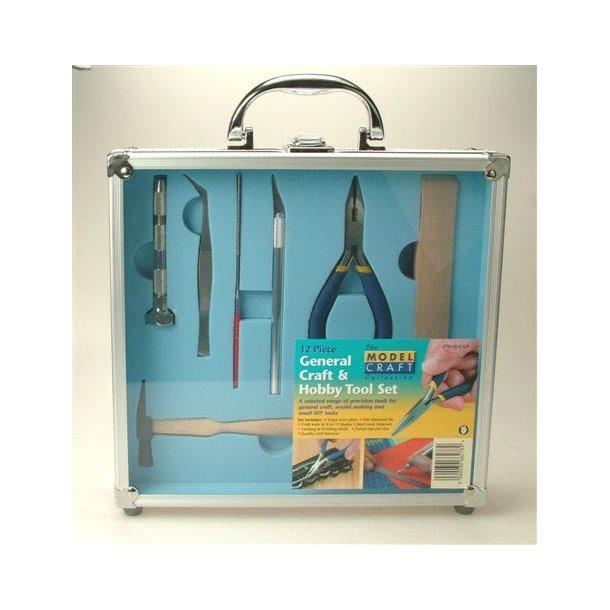 Sæt med 12 stk værktøj til Hobbyværkstedet