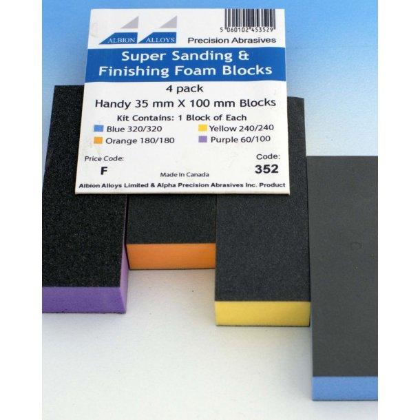 Super Slibe & Finishing Foam Block - 4 Pack