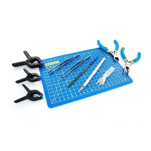 Plasticmodel værkstøjssæt - 15 dele