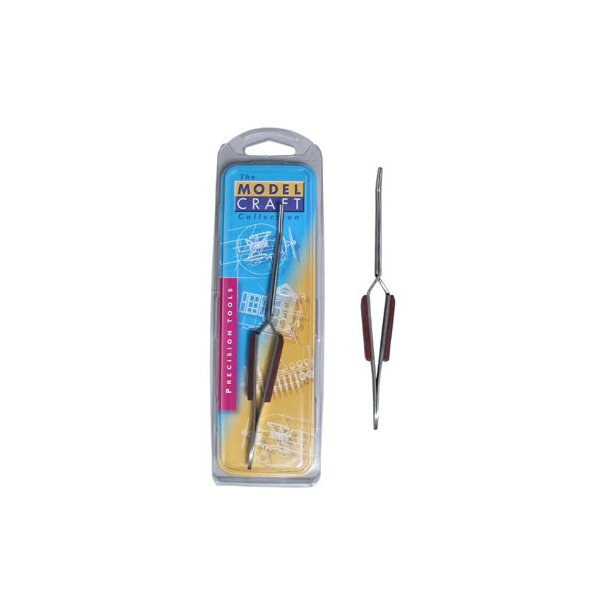 Reverse action fibre grip tweezers - curved