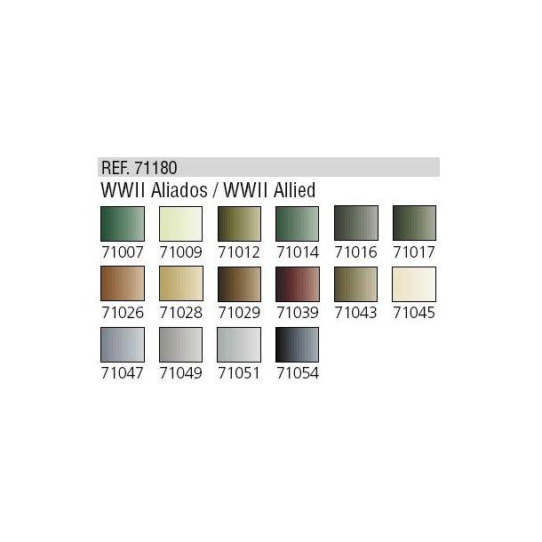 WWII farver til Airbrushing (16 stk maling)