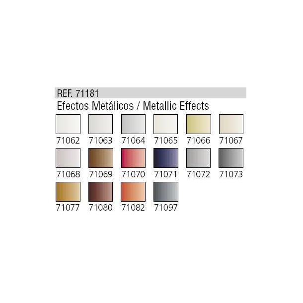 Metallic Effekt - 16 farver til Airbrush