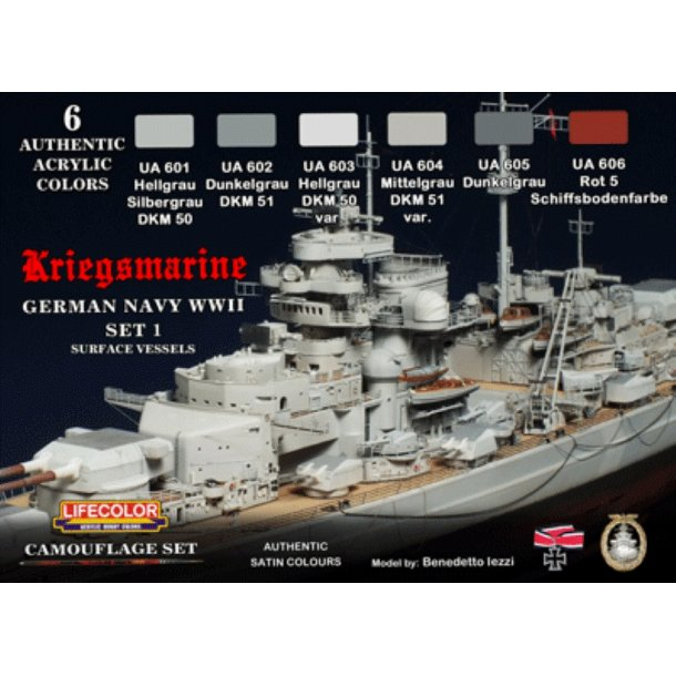 German WWII Kriegsmarine 1° Camouflage set